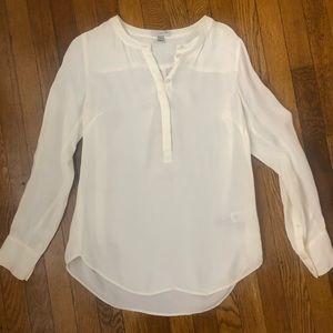 Jcrew Cream Long Sleeve Blouse